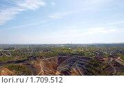 Панорама медного рудника и города