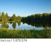 Пейзаж лесного озера