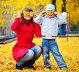 Мать и сын в осеннем парке, фото № 2041008, снято 2 октября 2010 г. (c) Алена Роот / Фотобанк Лори