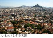 Афины, Греция. Вид сверху, фото № 2416728, снято 16 июня 2009 г. (c) Юлия Бабкина / Фотобанк Лори