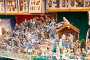 Counter of stand with figures and workpiece for creating Christmas scenes, фото № 6223724, снято 12 декабря 2013 г. (c) Яков Филимонов / Фотобанк Лори