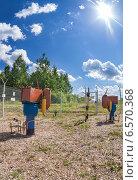 Газораспределительная станция в летний солнечный день, фото № 6570368, снято 23 октября 2014 г. (c) FotograFF / Фотобанк Лори