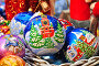 Новогодние елочные игрушки с кремлевской башней, фото № 6729732, снято 28 ноября 2014 г. (c) lana1501 / Фотобанк Лори