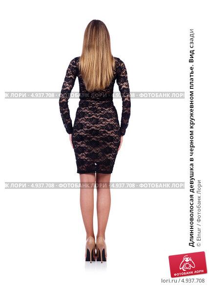 Девушки в платье вид сзади