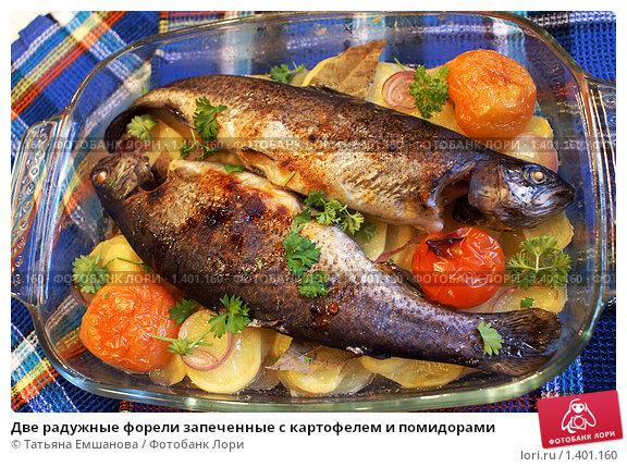 Как приготовить радужную форель с картошкой