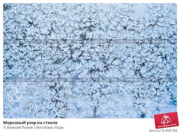 Морозный узор на стекле; фото 5318152, фотограф Алексей Попов. Фотобанк Лори - Продажа фотографий, иллюстраций и изображений, ви