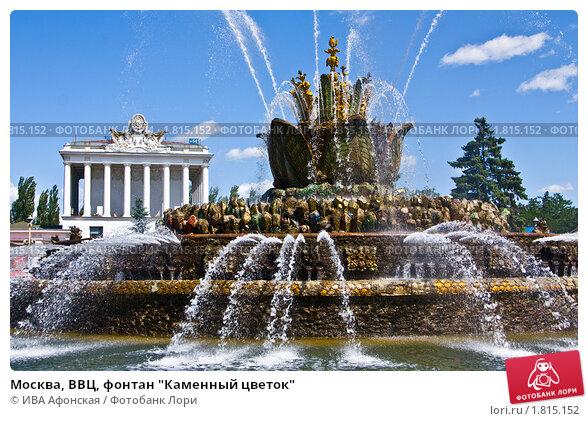 Москва ввц фонтан каменный цветок