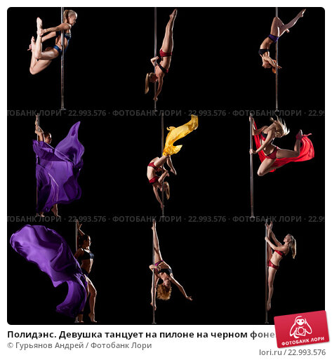 Vertical photo of modern male dancer performing on pylon