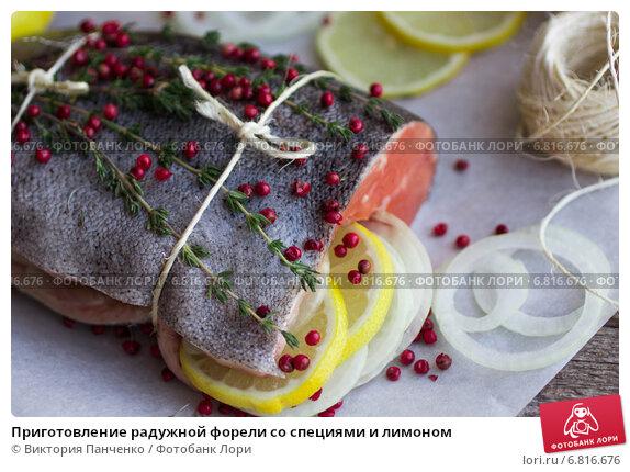 Рецепт приготовления радужной форели в духовке