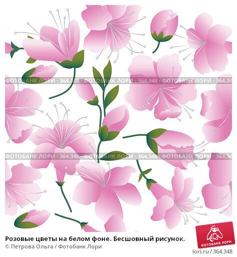 Цветы на белом фоне картинки
