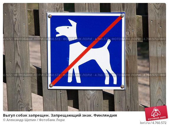 Выгул собак запрещен запрещающий