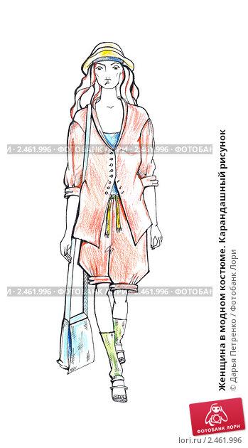 рисунки одежды карандашом.