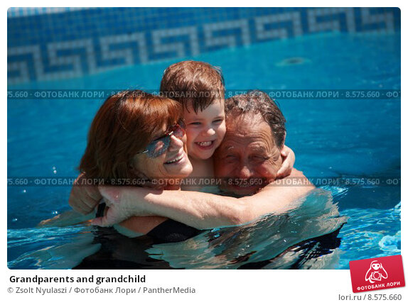 Купить « Grandparents and grandchild», фото № 8575660, снято 28 мая 2018 г. (c) PantherMedia / Фотобанк Лори
