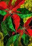 """Молочай красивейший, """"рождественская звезда"""", коллаж с бумажной фактурой, иллюстрация № 4548 (c) Tamara Kulikova / Фотобанк Лори"""