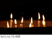 Свечи в церкви. Стоковое фото, фотограф Давид Мзареулян / Фотобанк Лори