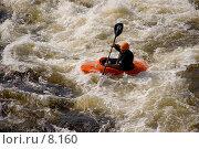 Купить «Бурная вода», фото № 8160, снято 20 августа 2006 г. (c) Vladimir Fedoroff / Фотобанк Лори