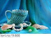 Купить «Морской натюрморт с чашкой», фото № 9600, снято 27 июня 2006 г. (c) Ольга Красавина / Фотобанк Лори