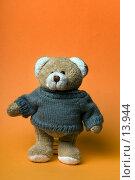Купить «Мишка на оранжевом фоне», фото № 13944, снято 1 декабря 2006 г. (c) Лисовская Наталья / Фотобанк Лори