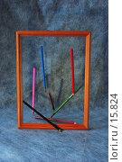Купить «Карандаши в рамке», фото № 15824, снято 24 декабря 2006 г. (c) Лукьянов Иван / Фотобанк Лори