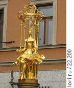 Купить «Принцесса Турандот на своем золотом троне у театра Вахтангова», фото № 22200, снято 29 июля 2006 г. (c) Fro / Фотобанк Лори