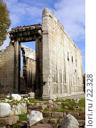 Купить «Стена храма Августа в Анкаре», фото № 22328, снято 15 ноября 2006 г. (c) Валерий Шанин / Фотобанк Лори