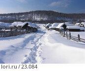 Купить «Башкирия, деревня», фото № 23084, снято 24 февраля 2007 г. (c) Талдыкин Юрий / Фотобанк Лори