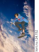 Купить «Скейтинг через небо (редакционное)», фото № 24152, снято 10 июля 2006 г. (c) Vladimir Fedoroff / Фотобанк Лори
