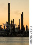 Купить «Нефтеперерабатывающий завод на закате», фото № 24512, снято 19 марта 2006 г. (c) Михаил Лавренов / Фотобанк Лори