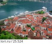 Купить «Вид с горы на крыши города, Котор, Черногория», фото № 25524, снято 11 мая 2006 г. (c) Golden_Tulip / Фотобанк Лори