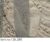 Купить «Следы на песке», фото № 26280, снято 20 июля 2005 г. (c) Жуковина Наталья Дмитриевна / Фотобанк Лори