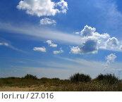 Купить «Облака над полем», фото № 27016, снято 23 января 2018 г. (c) SummeRain / Фотобанк Лори