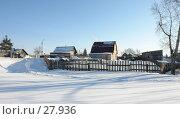 Купить «Сельский зимний пейзаж», фото № 27936, снято 24 сентября 2018 г. (c) Александр Тараканов / Фотобанк Лори
