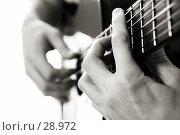 Купить «Игра на гитаре, баррэ аккорд», фото № 28972, снято 1 апреля 2007 г. (c) Tamara Kulikova / Фотобанк Лори