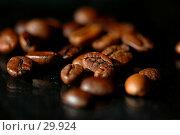 Купить «Кофейные зерна на черном фоне», фото № 29924, снято 22 ноября 2006 г. (c) Павел Преснов / Фотобанк Лори