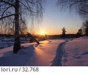 Купить «Закат», фото № 32768, снято 24 февраля 2007 г. (c) Талдыкин Юрий / Фотобанк Лори