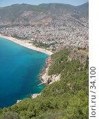 Купить «Средиземное море, пляж и горы. Аланья, Турция.», фото № 34100, снято 21 июля 2006 г. (c) Кардаков Алексей Игоревич / Фотобанк Лори