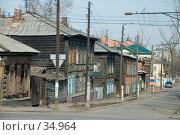 Купить «Старые деревянные дома», фото № 34964, снято 21 апреля 2007 г. (c) Саломатов Александр Николаевич / Фотобанк Лори