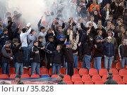 Купить «Футбольные фанаты», фото № 35828, снято 25 апреля 2007 г. (c) 1Andrey Милкин / Фотобанк Лори