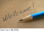 Купить «Welcome», фото № 36916, снято 19 декабря 2006 г. (c) Сергей Лаврентьев / Фотобанк Лори