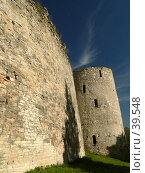 Купить «Изборск, крепостная стена», фото № 39548, снято 17 сентября 2006 г. (c) A Челмодеев / Фотобанк Лори