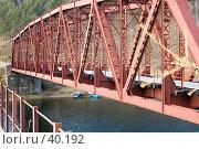 Купить «Железнодорожный мост через реку на Кругобайкальской железной дороге», фото № 40192, снято 15 октября 2006 г. (c) Саломатов Александр Николаевич / Фотобанк Лори