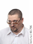 Купить «Взгляд поверх очком», фото № 40796, снято 8 марта 2007 г. (c) Георгий Марков / Фотобанк Лори