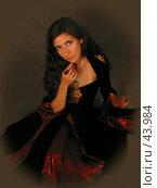 Купить «Девушка в средневековом платье», эксклюзивное фото № 43984, снято 14 сентября 2004 г. (c) Юлия Кузнецова / Фотобанк Лори