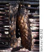 Купить «Лапти», фото № 45312, снято 20 мая 2006 г. (c) Илья Садовский / Фотобанк Лори