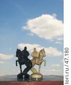 Шахматные кони. Стоковое фото, фотограф Коннов Георгий / Фотобанк Лори