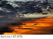 Купить «Оранжево-огненные отсветы на грозовых облаках», фото № 47876, снято 23 июня 2007 г. (c) Eleanor Wilks / Фотобанк Лори