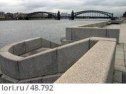 Купить «Санкт-Петербург, вид на мост Петра Великого», фото № 48792, снято 15 октября 2006 г. (c) Александр Секретарев / Фотобанк Лори