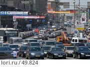 Купить «Рабочее движение транспорта на Тверской», фото № 49824, снято 30 мая 2007 г. (c) Юрий Синицын / Фотобанк Лори