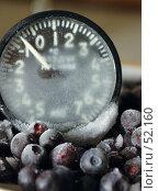 Черника мороженая и термометр. Стоковое фото, фотограф Борис Никитин / Фотобанк Лори