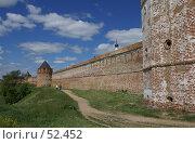 Купить «Суздаль. Стена Спасо-Евфимиева монастыря», фото № 52452, снято 11 июня 2007 г. (c) Julia Nelson / Фотобанк Лори